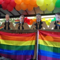 50 neonazis burned a rainbow flag at jewish community center Auróra  - Hungarian government had nothing to say about it